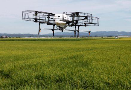 Японские фермеры начнут засеивать поля с помощью дронов