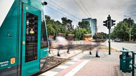 В Германии прошли первые испытания беспилотного трамвая