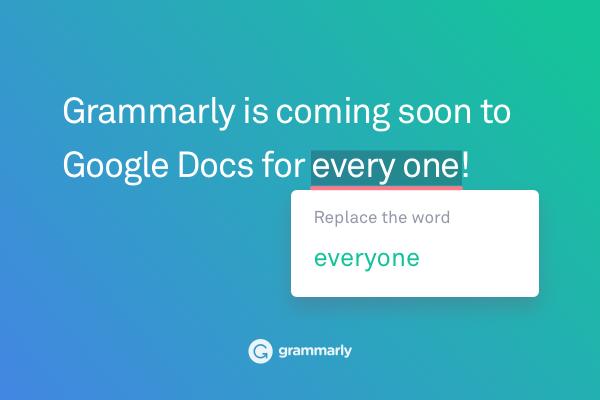 Grammarly запускает проверку текста в Google Docs для всех пользователей