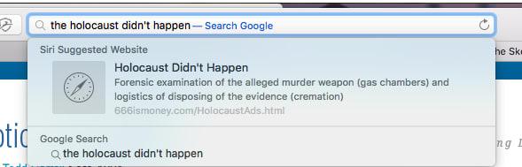 Предлагаемые результаты поиска в Safari продвигали теории заговоров, ложь и дезинформацию - ITC.ua