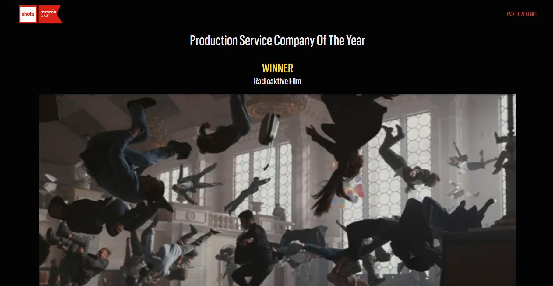 Киевская студия Radioaktive Film, снимавшая рекламу умных часов Apple Watch Series 3, признана лучшей продакш-студией в мире по версии Shots Awards