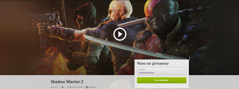 GOG бесплатно раздаёт игру Shadow Warrior 2