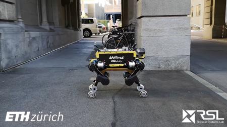 ANYmal — четвероногий робот с колесами на концах ног