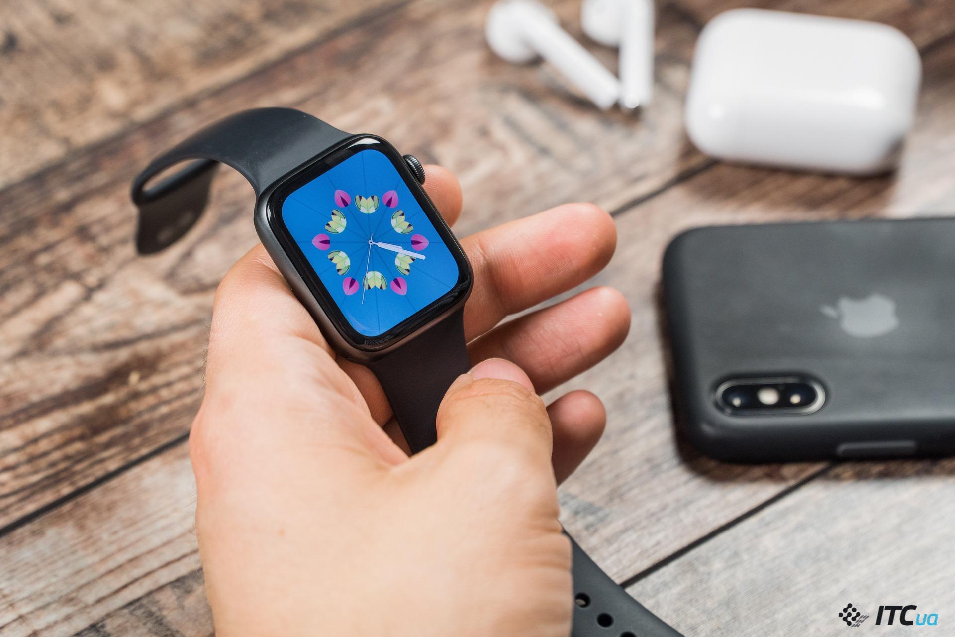 экран Apple Watch Series 4