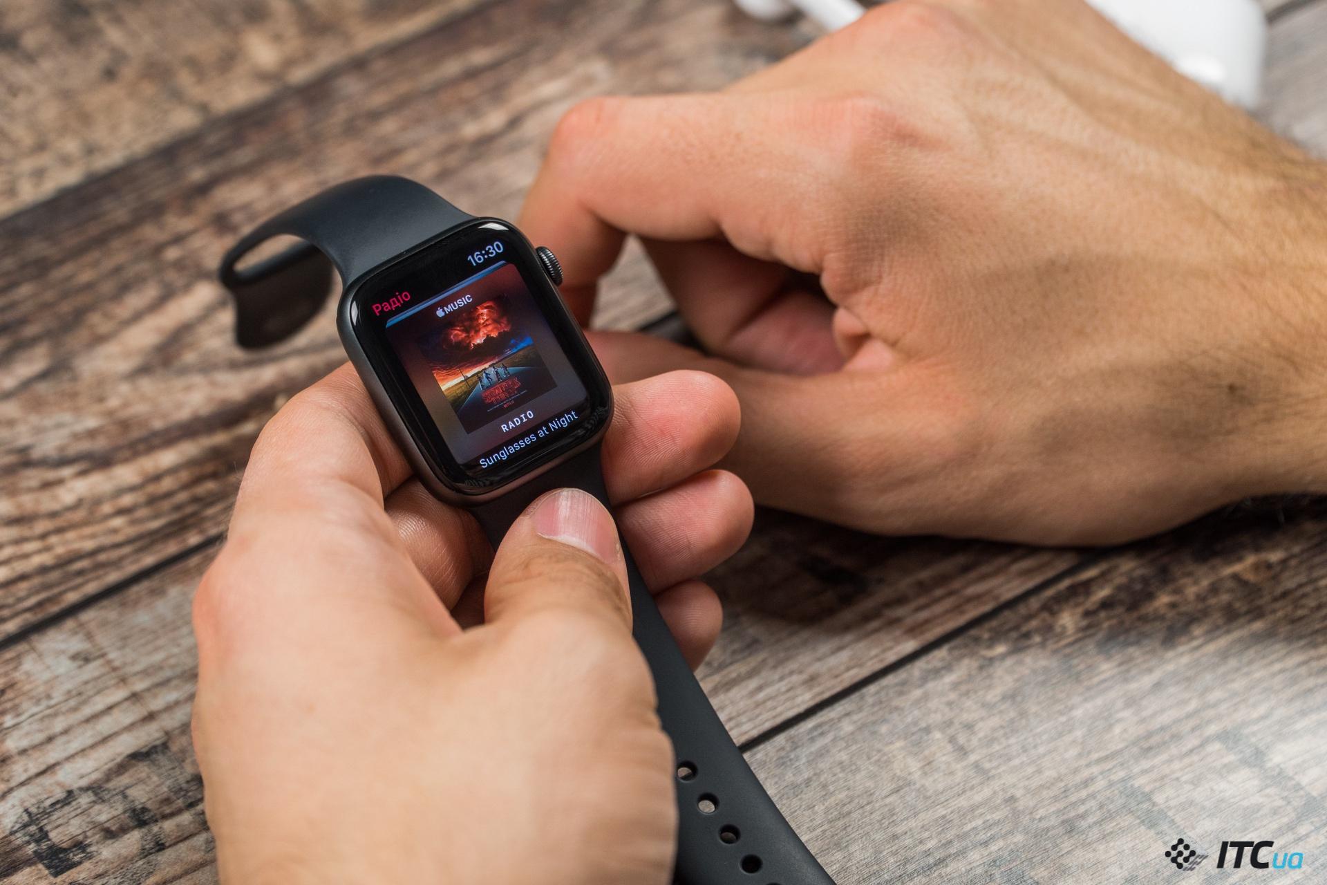 музыка Apple Watch Series 4
