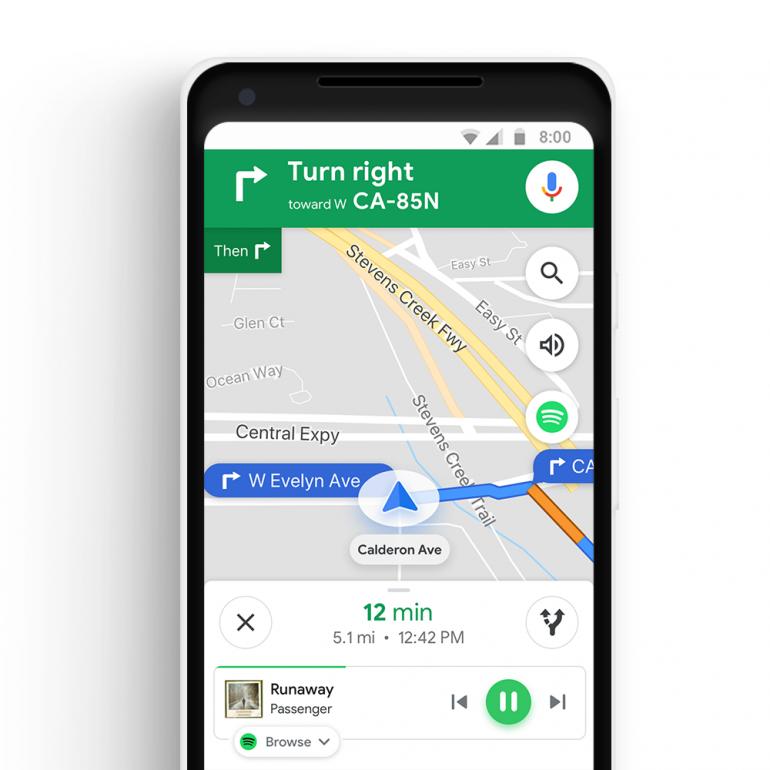 В Google Maps появились подробные сведения о ежедневных маршрутах и встроенная поддержка музыки