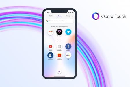 Opera выпустила мобильный браузер Opera Touch для iPhone и iPad
