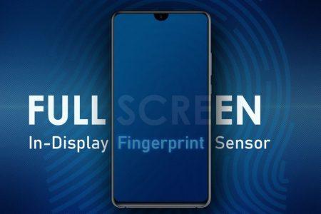 В патенте Samsung изображён безрамочный смартфон с вырезом и подэкранным сканером отпечатков пальцев, срабатывающим в любом месте [+ концептуальный рендер Galaxy S10+]