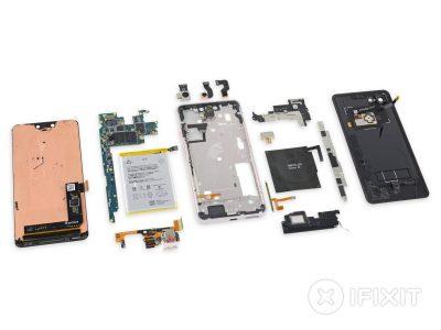 Разборка iFixit показала, что для Pixel 3 XL компания Google выбрала экраны Samsung, а не LG