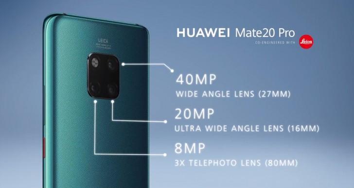 Анонсированы смартфоны Huawei Mate 20 и Mate 20 Pro: SoC Kirin 980, быстрая зарядка и тройные камеры Leica