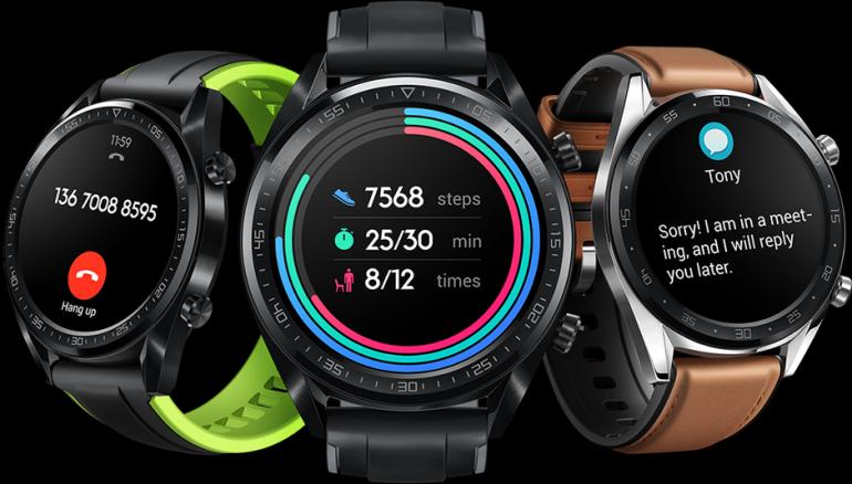 Huawei анонсировала умные часы Watch GT и фитнес-трекер Band 3 Pro