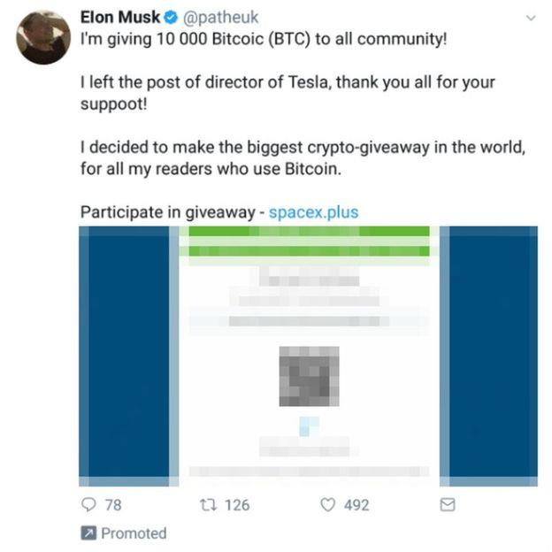 Хакеры, выдававшие себя за Илона Маска, выудили у пользователей Twitter десятки тысяч биткоинов