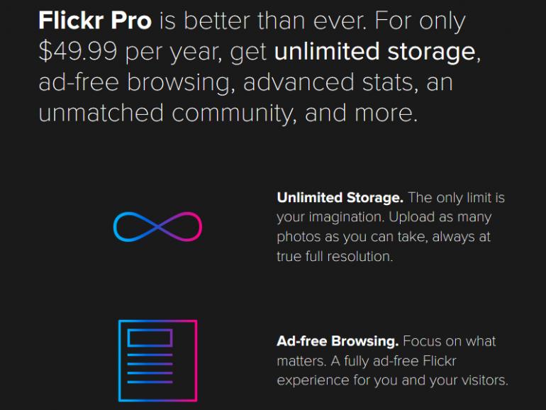 Flickr закрывает программу с бесплатным 1 ТБ облачного хранилища, теперь обычные пользователи смогут хранить в сервисе не более 1000 фотографий
