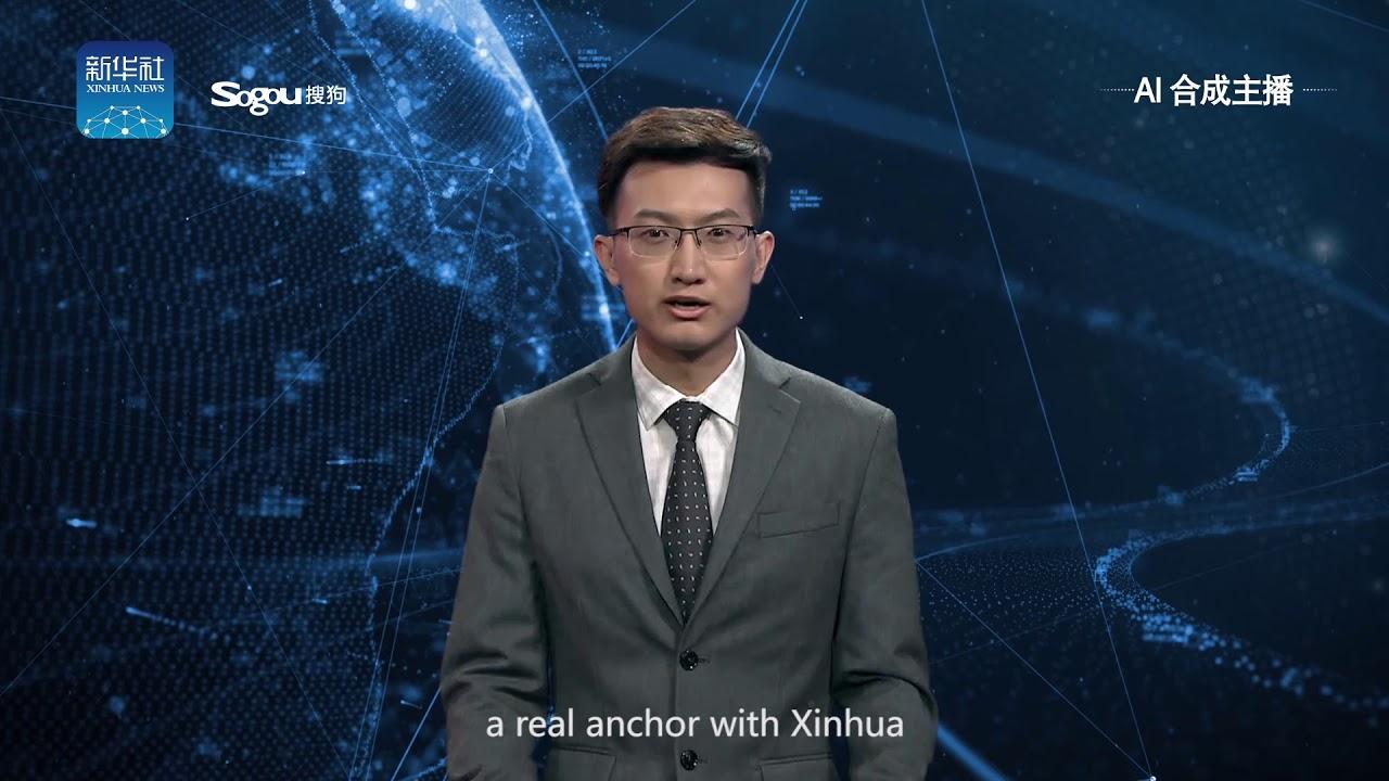 В КНР  показали ведущего новостей сискусственным интеллектом