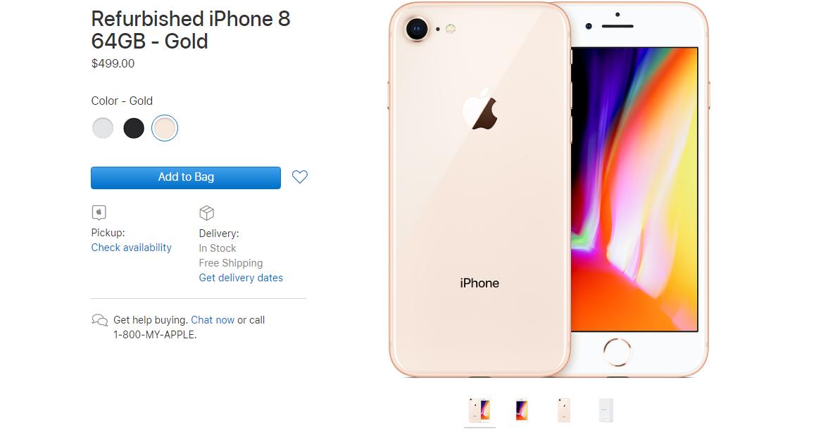 e114f655ab3a Apple начала продавать восстановленные iPhone 8 и 8 Plus. Сэкономить можно   100