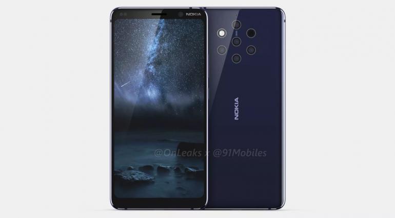 Неанонсированный флагманский смартфон Nokia 9 (Olympic) с «пятерной» камерой красуется на видео со всех сторон