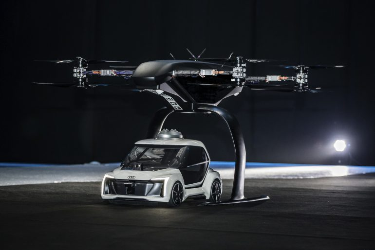 Audi, Airbus и Italdesign провели публичное тестирование модульного электрического летающего такси Pop.Up Next