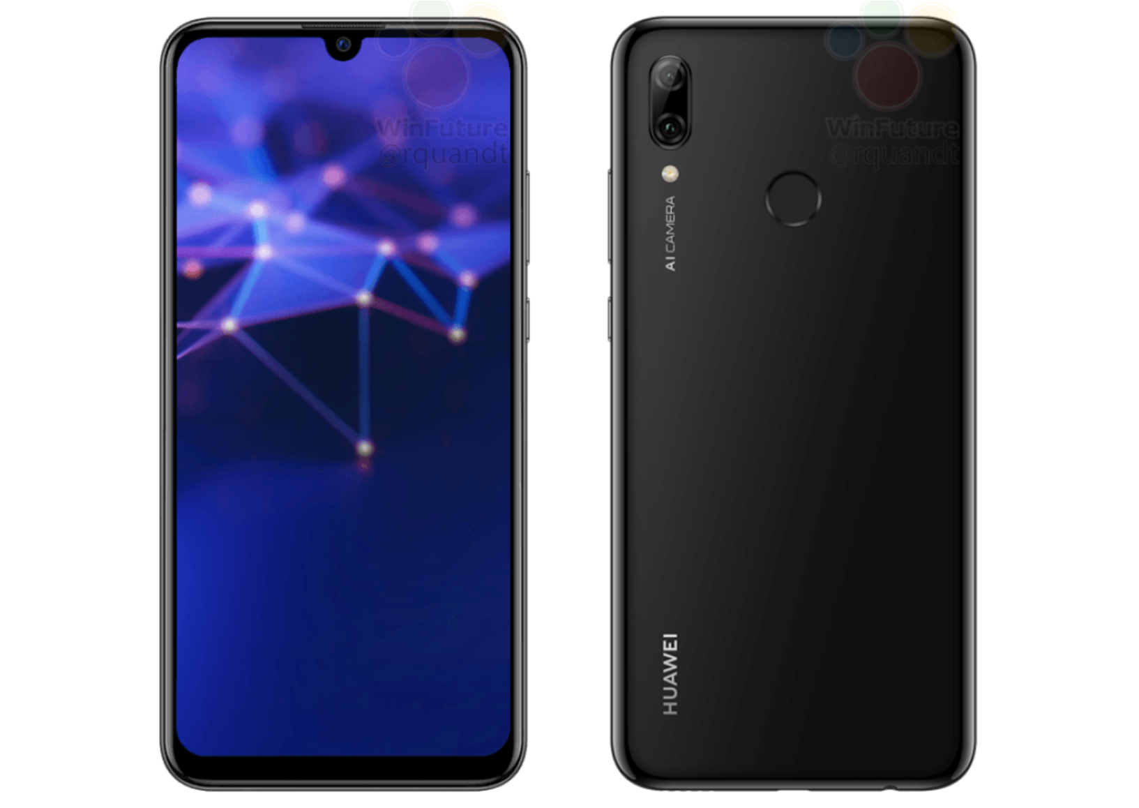 Смартфон Huawei P Смарт 2019 показали наофициальных рендерах