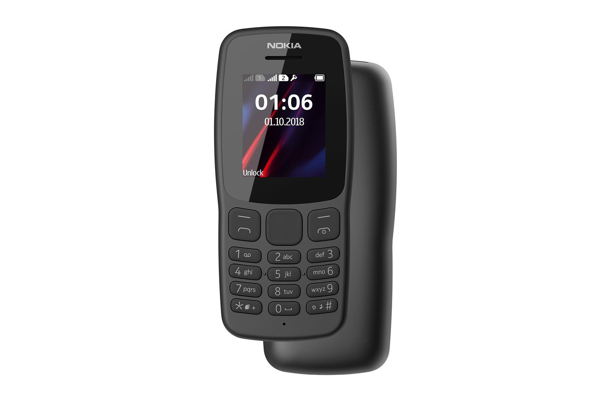 HMD Global представила кнопочный телефон Nokia 106 с 1,8-дюймовым экраном 4 МБ ОЗУ предустановленной Змейкой и ценником $20