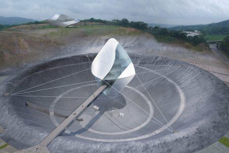 Новый центр космических исследований JAXA будет подвешен над кратером