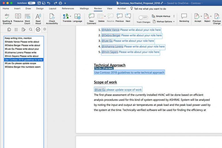 Microsoft добавит в Word функцию, которая будет автоматически создавать списки задач