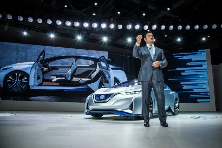Today we had to submit a Nissan Leaf E-Plus electric car with a 60 kWh battery, but given the scandal with Carlos Ghosn, the announcement was postponed indefinitely
