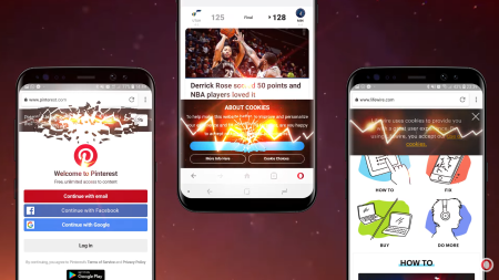 Новая версия браузера Opera для Android позволяет блокировать уведомления об использовании cookie-файлов