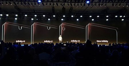 Samsung представила новые смартфонные дисплеи Infinity-V, Infinity-U и Infinity-О с вырезами разной формы