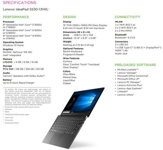 Спецификации ноутбука демонстрируют загадочные процессоры Intel 8-го поколения Whiskey Lake, но серии 9000