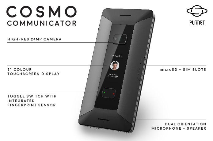 На Indiegogo собирают средства на коммуникатор Cosmo Communicator, являющийся идейным наследником легендарного Nokia E90