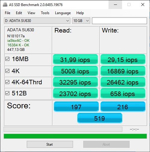 Обзор накопителя ADATA Ultimate SU630: пробуем в деле 3D QLC