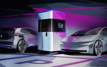 Ђѕауэрбанк дл¤ электромобил¤ї: Volkswagen представил мобильные скоростные зар¤дки дл¤ электромобилей с внутренней батареей на 360 к¬тч