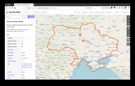 OpenStreetMap передумали насчет Крыма и снова начали показывать его на своих картах частью Украины