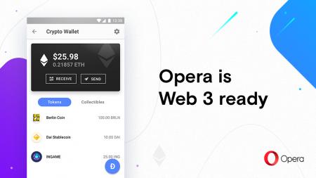 Opera выпустила первый Android-браузер с поддержкой Web 3 и встроенным криптокошельком Ethereum