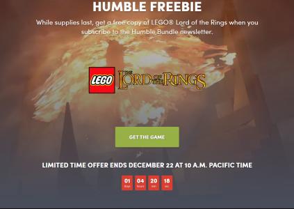 В Humble Bundle бесплатно раздают игру LEGO Lord of the Rings