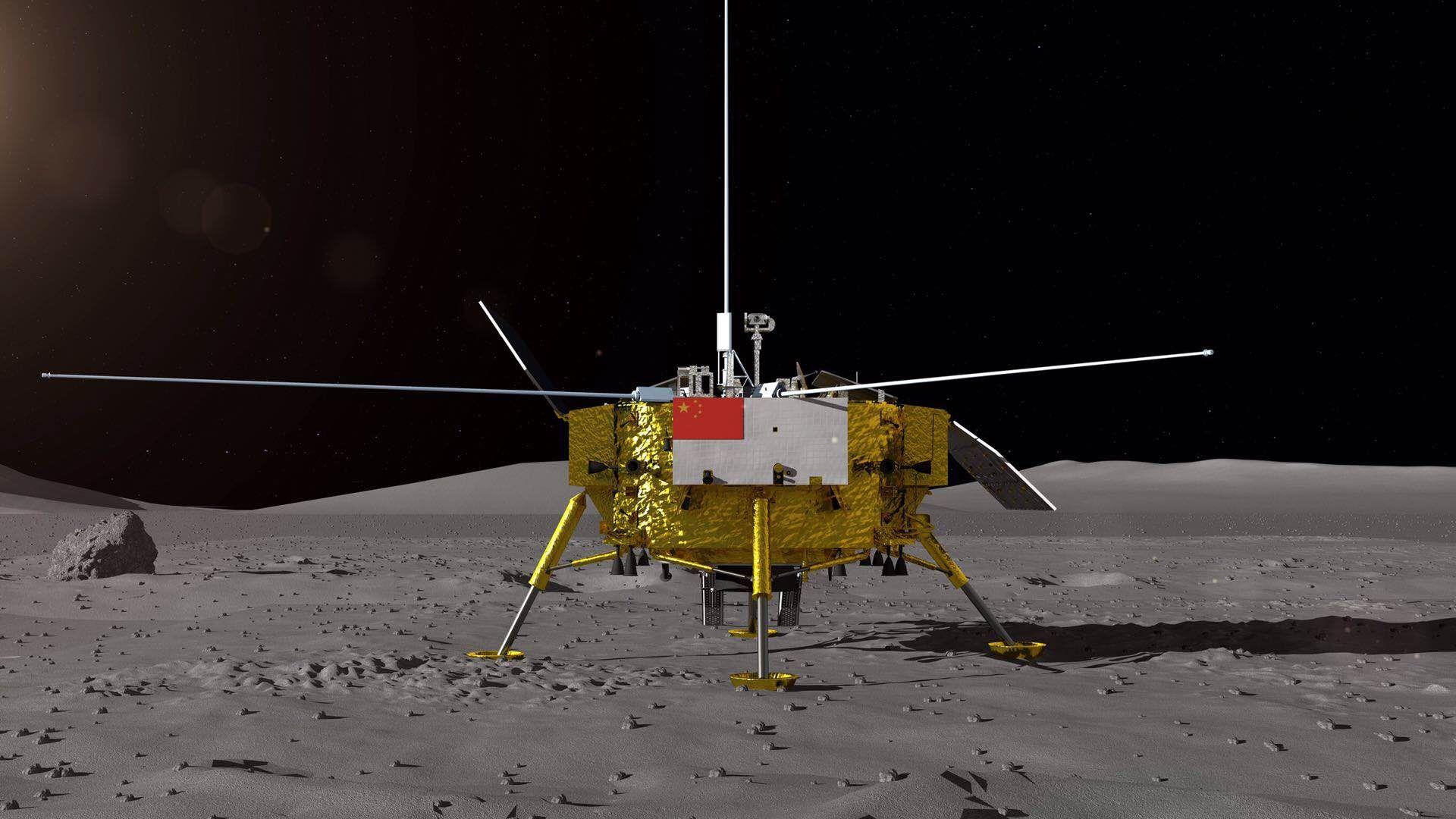 Китайский космический аппарат прислал на Землю панорамные снимки обратной стороны Луны