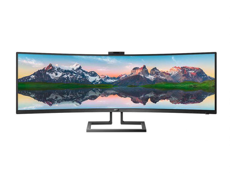 Сверхширокий изогнутый 49-дюймовый монитор Philips 499P9H поступит в продажу в Украине по цене 35 тыс. грн