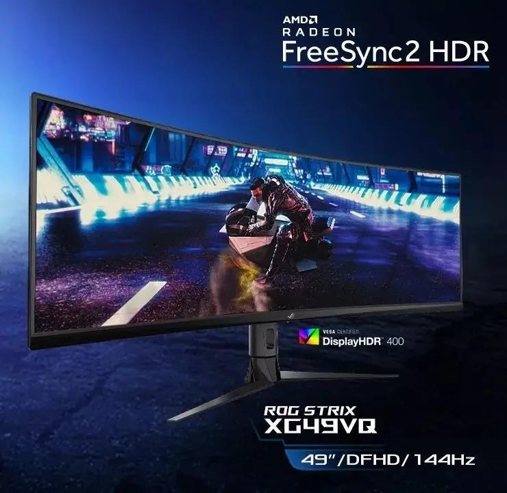 ASUS выпускает три огромных игровых HDR-монитора: XG438Q, XG49VQ и XG32VQ