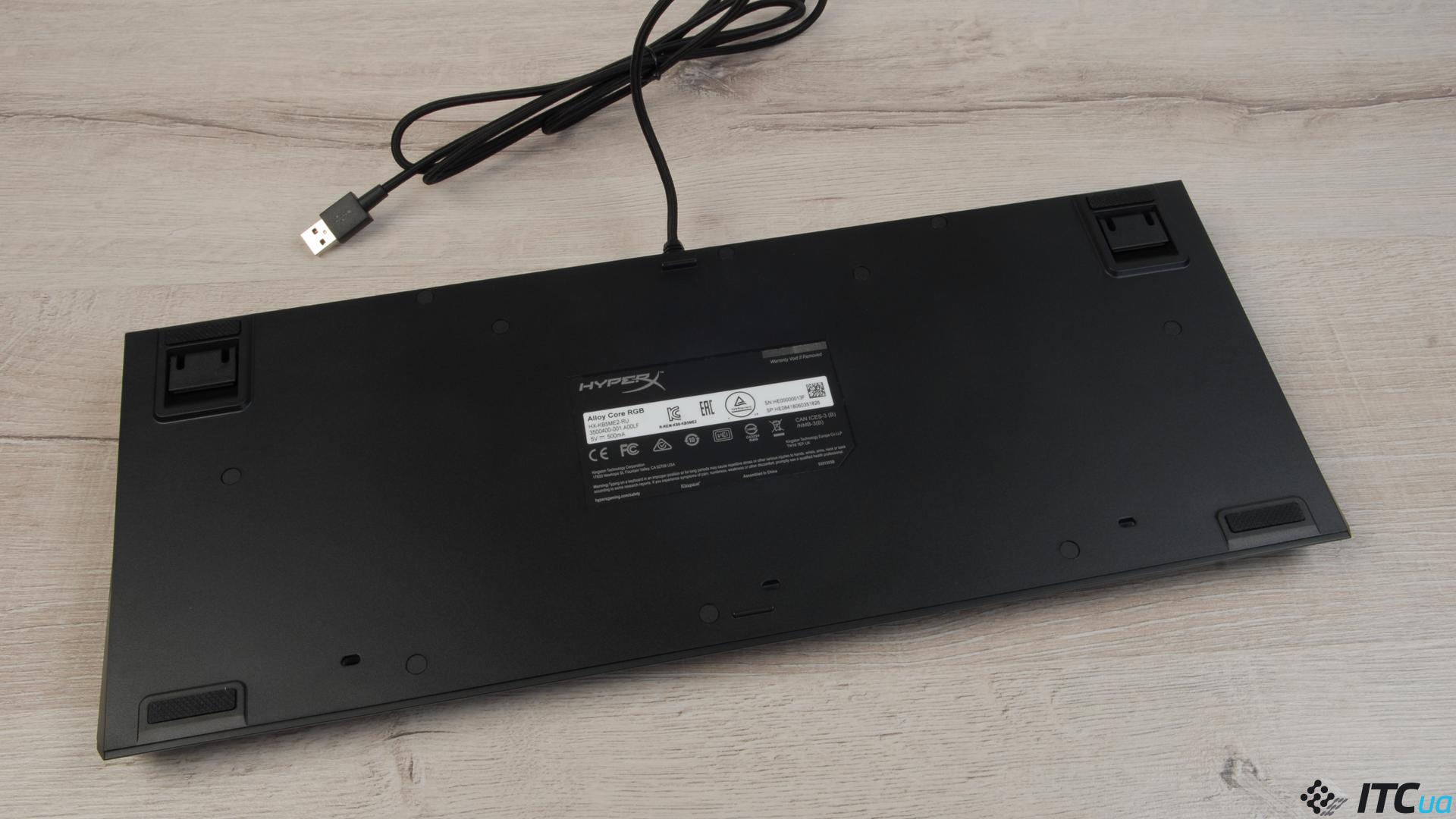 Обзор игровой клавиатуры HyperX Alloy Core RGB