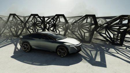 В Детройте представили концепт электромобиля Nissan IMs, представляющий собой «высокий спортседан» с парой двигателей мощностью 480 л.с., батареей на 115 кВтч и запасом хода 600 км