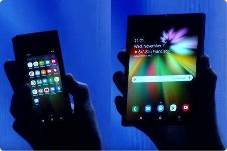 Samsung еще раз намекнула на анонс сгибаемого смартфона Galaxy F вместе с Galaxy S10 на презентации 20 февраля, теперь ему приписывают АКБ существенно меньшей емкости