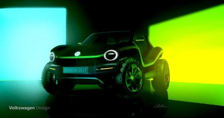 Volkswagen показала первые изображения электрического багги ID. BUGGY, премьера состоится в марте на Женевском автосалоне