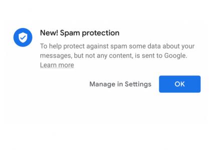 В приложении Android Messages появилась автоматическая защита от спама, собирающая номера телефонов отправителей и получателей сообщений