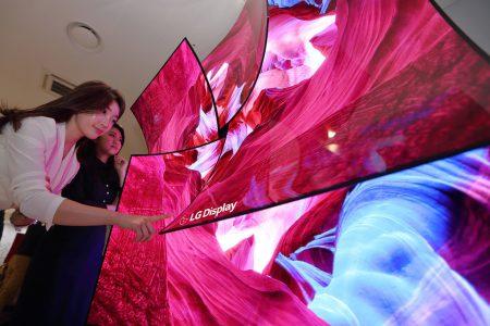 LG Display показала 88-дюймовый 8K OLED дисплей с интегрированным многоканальным звуком Dolby Atmos