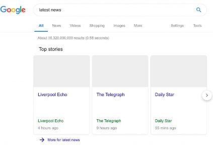 Google показала, как пустынно будет выглядеть поисковая выдача в случае принятия Директивы ЕС о защите авторских прав