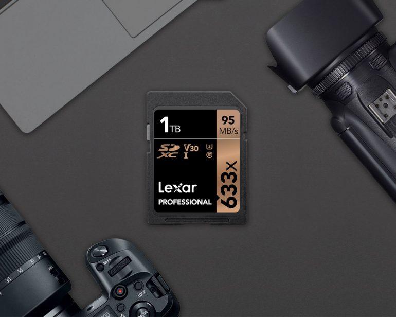 Американская компания Lexar представила первую серийную SD-карту на 1 ТБ