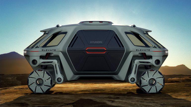 Hyundai Elevate - концепт шагающего колесного электромобиля, способного ездить, ходить и карабкаться по пересеченной местности [CES 2019]