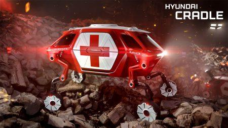 Hyundai Elevate — концепт шагающего колесного электромобиля, способного ездить, ходить и карабкаться по пересеченной местности [CES 2019]