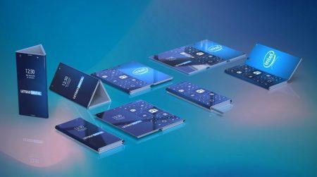 Галерея дня: совершенно разные смартфоны Intel и Samsung с гибким экраном, которые можно складывать втрое