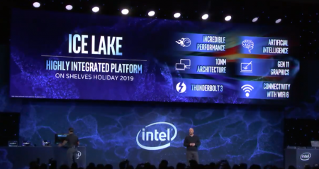 Intel номинально анонсировала 10-нм процессоры Ice Lake-U, первые ноутбуки на них выйдут до конца этого года